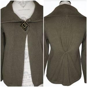 Haiku Cotton Knit Portrait Collar Sweater